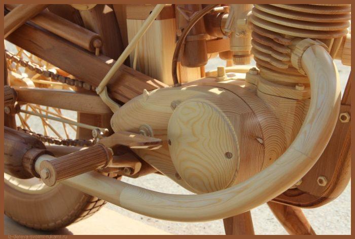 49 00017 - Из дерева своими руками! Интересные деревянные поделки, мебель, мастер-классы по дереву - Мотоцикл ИЖ-49 из дерева, 40 фотографий и видео