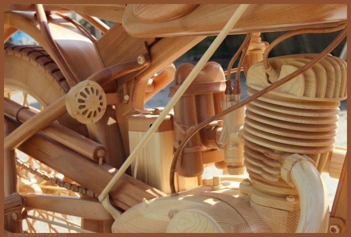 49 00018 - Из дерева своими руками! Интересные деревянные поделки, мебель, мастер-классы по дереву - Мотоцикл ИЖ-49 из дерева, 40 фотографий и видео