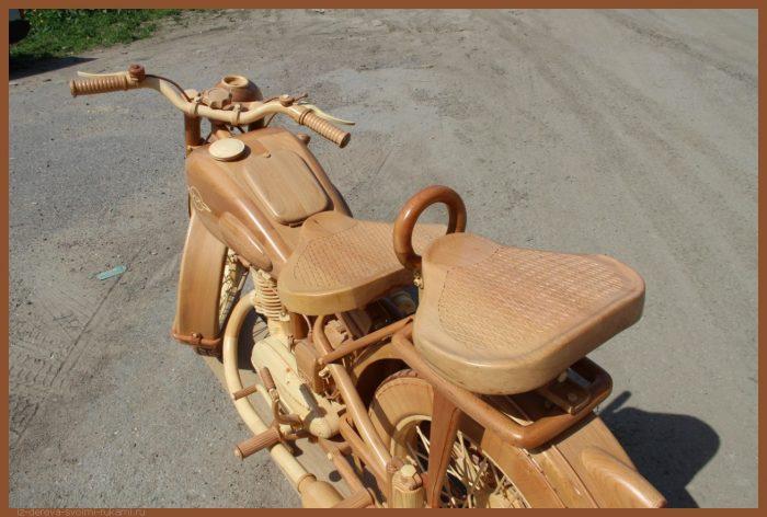 49 00020 - Из дерева своими руками! Интересные деревянные поделки, мебель, мастер-классы по дереву - Мотоцикл ИЖ-49 из дерева, 40 фотографий и видео