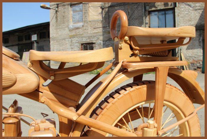 49 00021 - Из дерева своими руками! Интересные деревянные поделки, мебель, мастер-классы по дереву - Мотоцикл ИЖ-49 из дерева, 40 фотографий и видео