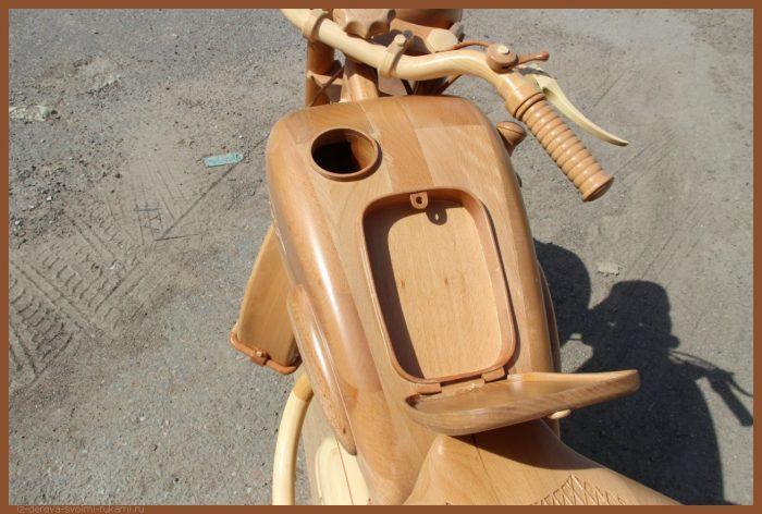 49 00033 - Из дерева своими руками! Интересные деревянные поделки, мебель, мастер-классы по дереву - Мотоцикл ИЖ-49 из дерева, 40 фотографий и видео