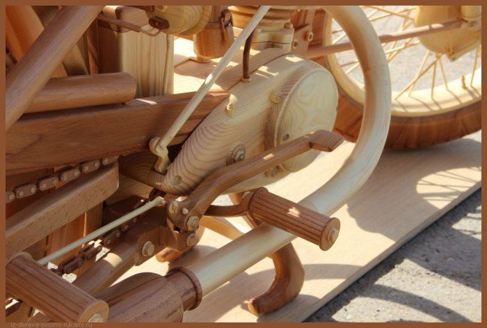 49 00035 - Из дерева своими руками! Интересные деревянные поделки, мебель, мастер-классы по дереву - Мотоцикл ИЖ-49 из дерева, 40 фотографий и видео