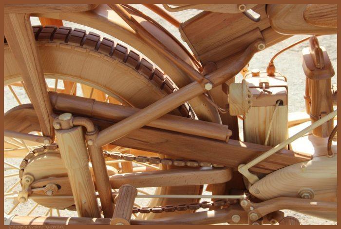 49 00038 - Из дерева своими руками! Интересные деревянные поделки, мебель, мастер-классы по дереву - Мотоцикл ИЖ-49 из дерева, 40 фотографий и видео