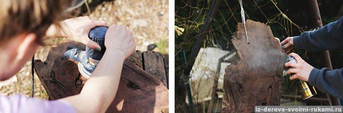 115540816 2 - Из дерева своими руками. Мастер-классы по дереву - Подвешенная полка из спила, фото