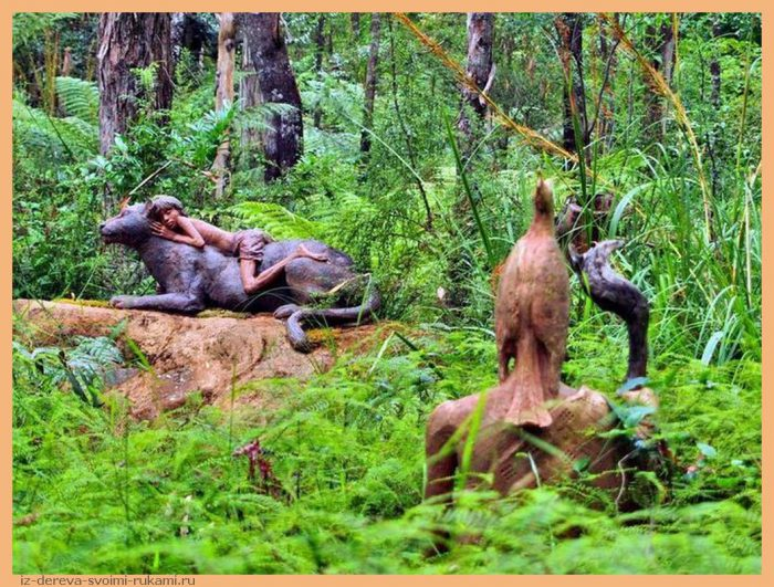 0f04705e7e07d1f5346b7a76de30a378 - Из дерева своими руками. Мастер-классы по дереву - Сад скульптур в Мельбурне, Австралия (21 фото+видео). Мастер Бруно Торфс