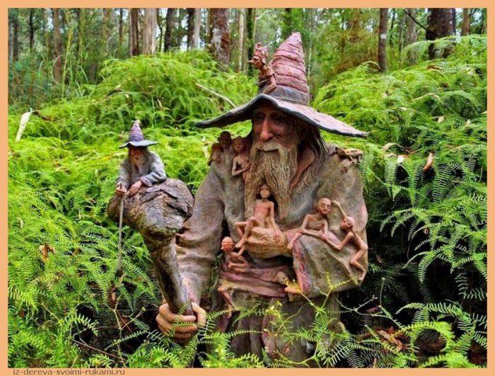 352742162 - Из дерева своими руками. Мастер-классы по дереву - Сад скульптур в Мельбурне, Австралия (21 фото+видео). Мастер Бруно Торфс