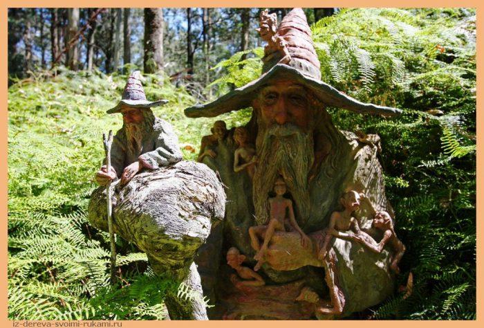 45238709 - Из дерева своими руками. Мастер-классы по дереву - Сад скульптур в Мельбурне, Австралия (21 фото+видео). Мастер Бруно Торфс