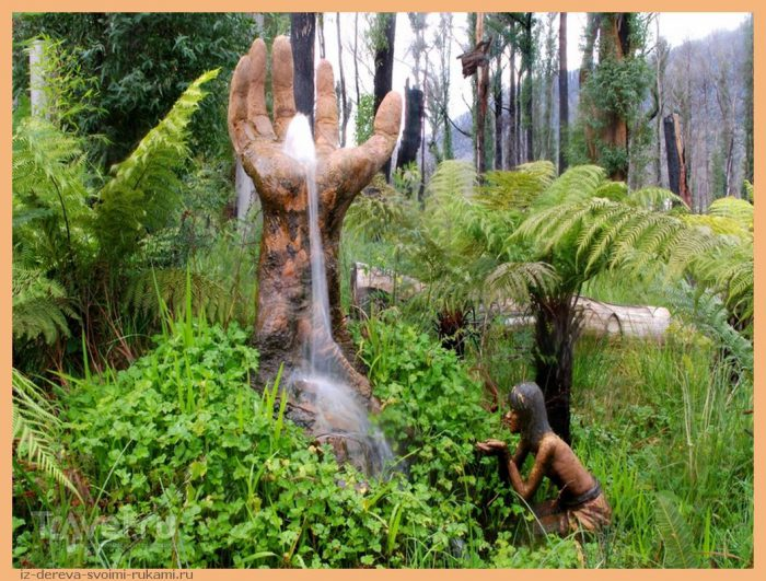 brunosart 13 - Из дерева своими руками. Мастер-классы по дереву - Сад скульптур в Мельбурне, Австралия (21 фото+видео). Мастер Бруно Торфс