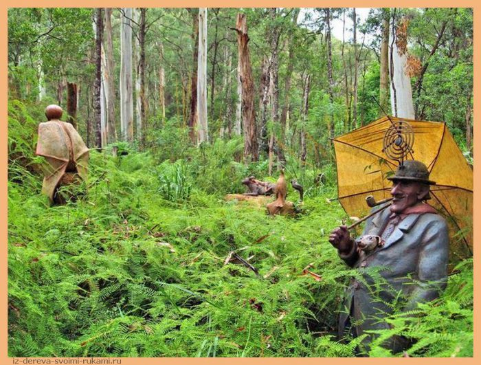 da03e156be7469bd5a7e09b7f703efbf - Из дерева своими руками. Мастер-классы по дереву - Сад скульптур в Мельбурне, Австралия (21 фото+видео). Мастер Бруно Торфс