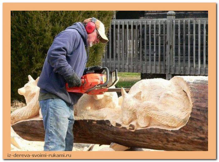 creativing.net rezba po derevu benzopiloj 001 - Из дерева своими руками. Мастер-классы по дереву - Фигурная резьба по дереву бензопилой (20 фото)