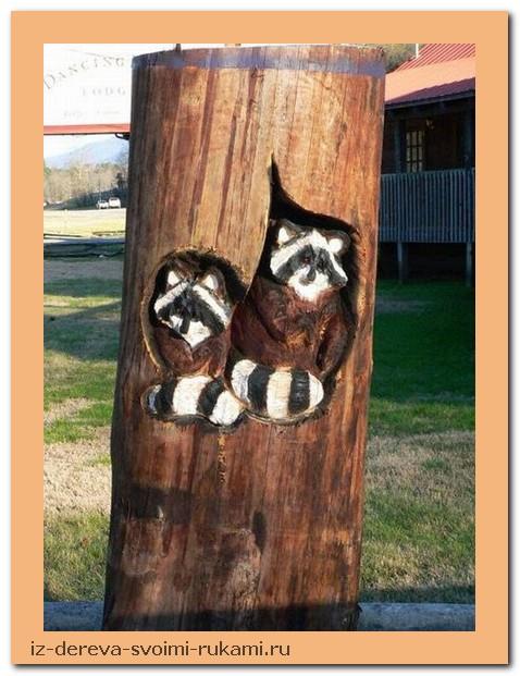 creativing.net rezba po derevu benzopiloj 009 - Из дерева своими руками. Мастер-классы по дереву - Фигурная резьба по дереву бензопилой (20 фото)