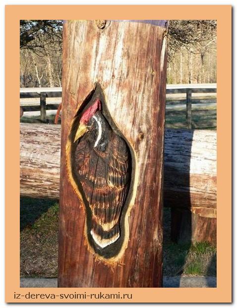 creativing.net rezba po derevu benzopiloj 014 - Из дерева своими руками. Мастер-классы по дереву - Фигурная резьба по дереву бензопилой (20 фото)