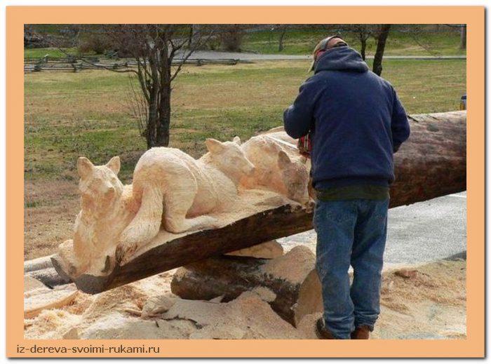 creativing.net rezba po derevu benzopiloj 020 - Из дерева своими руками. Мастер-классы по дереву - Фигурная резьба по дереву бензопилой (20 фото)