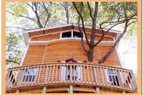 Дедушка построил 3-этажный дом на дереве для своих внуков, 5 фото