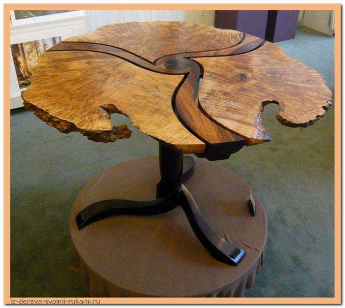 07sHTc39RgA - Из дерева своими руками. Мастер-классы по дереву - Очень крутые столы! 15 фото