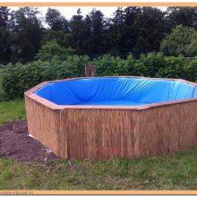 Бассейн из деревянных поддонов, 7 фото