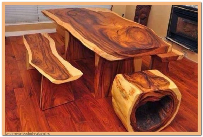 hoCdGj10KqE - Из дерева своими руками. Мастер-классы по дереву - Очень крутые столы! 15 фото