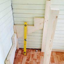 """Лестница с """"гусиным шагом"""" из дерева своими руками"""