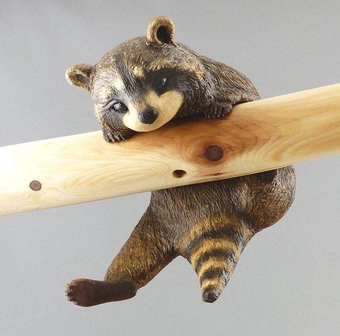 4 - Из дерева своими руками. Мастер-классы по дереву - Енот из дерева
