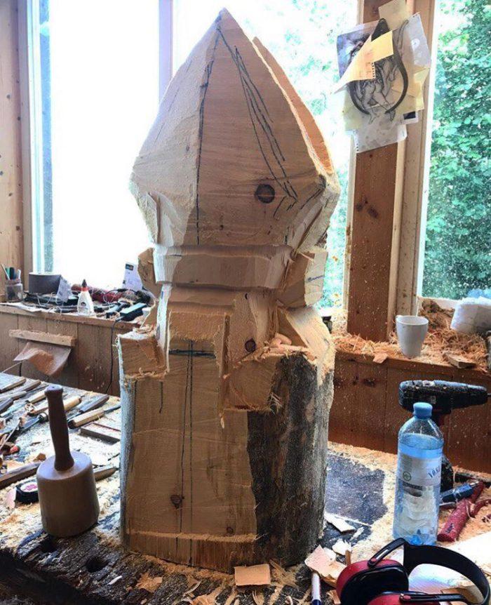 1525883219154830826 - Из дерева своими руками. Мастер-классы по дереву - Бородач из куска бревна