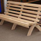 image - Из дерева своими руками! Интересные деревянные поделки, мебель, мастер-классы по дереву - Схема простой садовой скамьи