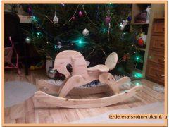 Лошадка-качалка из дерева своими руками + видео