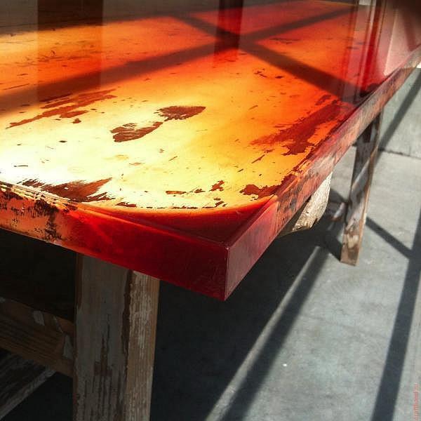 1511261533160827345 - Из дерева своими руками! Интересные деревянные поделки, мебель, мастер-классы по дереву - Дерево и эпоксидная смола. Мастер-класс изготовления стола из слэба и смолы