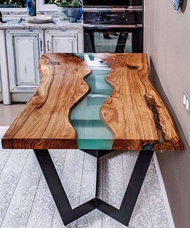 kak sdelat stol iz epoksidnoj smoly svoimi rukami 23 - Из дерева своими руками! Интересные деревянные поделки, мебель, мастер-классы по дереву - Дерево и эпоксидная смола. Мастер-класс изготовления стола из слэба и смолы